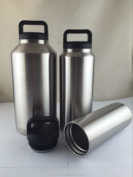 hot selling insulated vacuum stainless steel cooler bottle 64oz