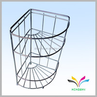 High quality customized modern kitchen stainless steel wire mesh shelves