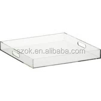 Cheap clear acrylic plastic rectangular serving tray