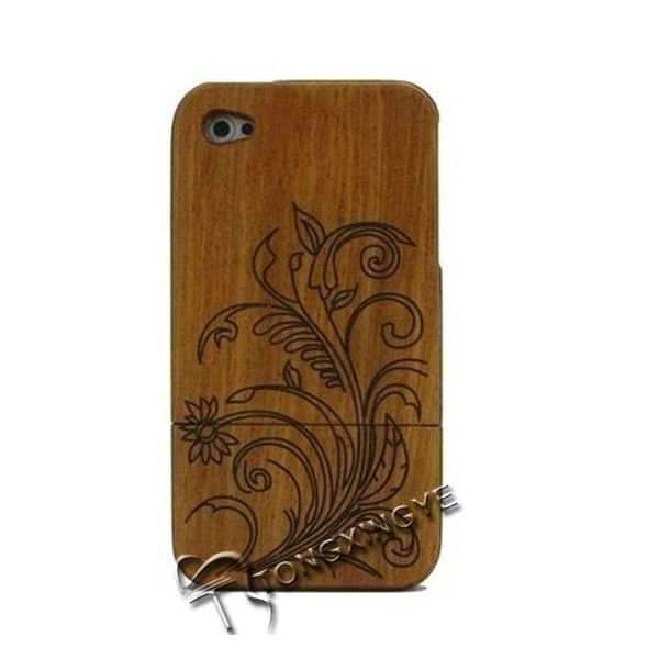 2013 make wooden display case, wooden protection case for iphone 4