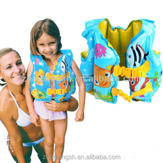 Personalized printing inflatable life jacket/swim vest for kids