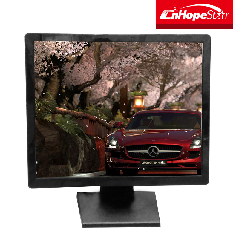 19 Inch resistance 12v lcd monitor with touchscreen