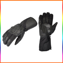 Black motorcycle gloves gauntlet /Durable motorcycle gloves armored