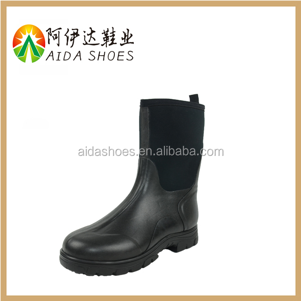 2015 High Quality Neoprene Lining Rubber Working Men Gumboots