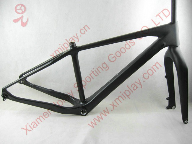 2015 chinese hot full carbon bicycle frame UD black carbon 26er fat bicycle toray carbon frame IP-N019