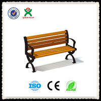 Fine Design Wood Park Bench/Antique cast iron bench/Outdoor Waiting benches/QX-144D