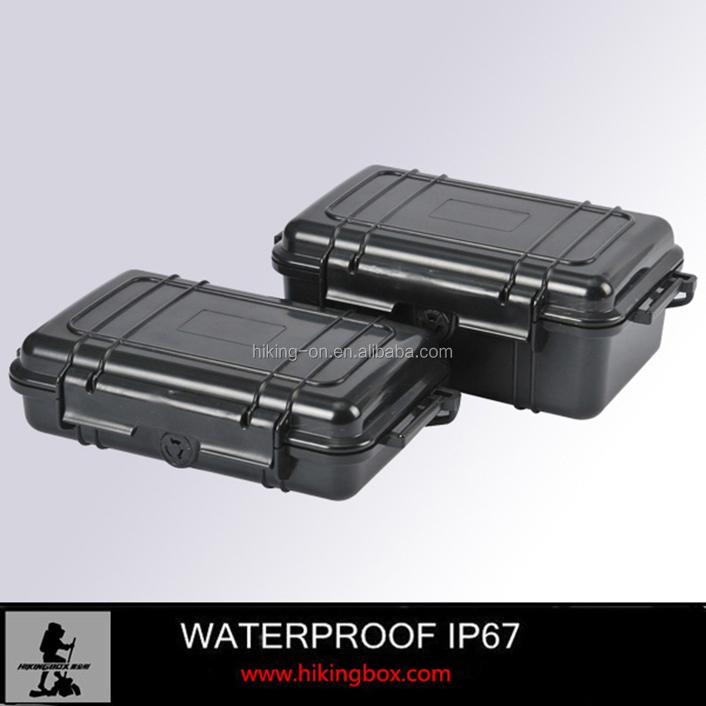 Hard Cigar Case / IP67 Small plastic Handled Case /Plastic Tool Case with Rubber Cushion HTC002