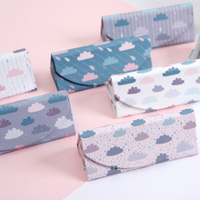 Creative Printing Triangle Sunglasses Case Spectacle Box Folding Glasses Case