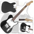 Black-white Cheap OEM TEG-146 Electric Guitar