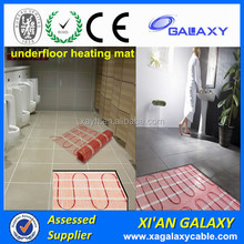 Manufacturer 100w/m2 200w/m2 electric undertile heating mat radiant electric floor heat mat heater