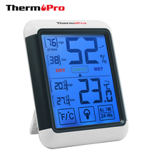 ThermoPro TP55 Digital Indoor Hygrometer Thermometer Digital Humidity Meter with Backlit LCD Screen