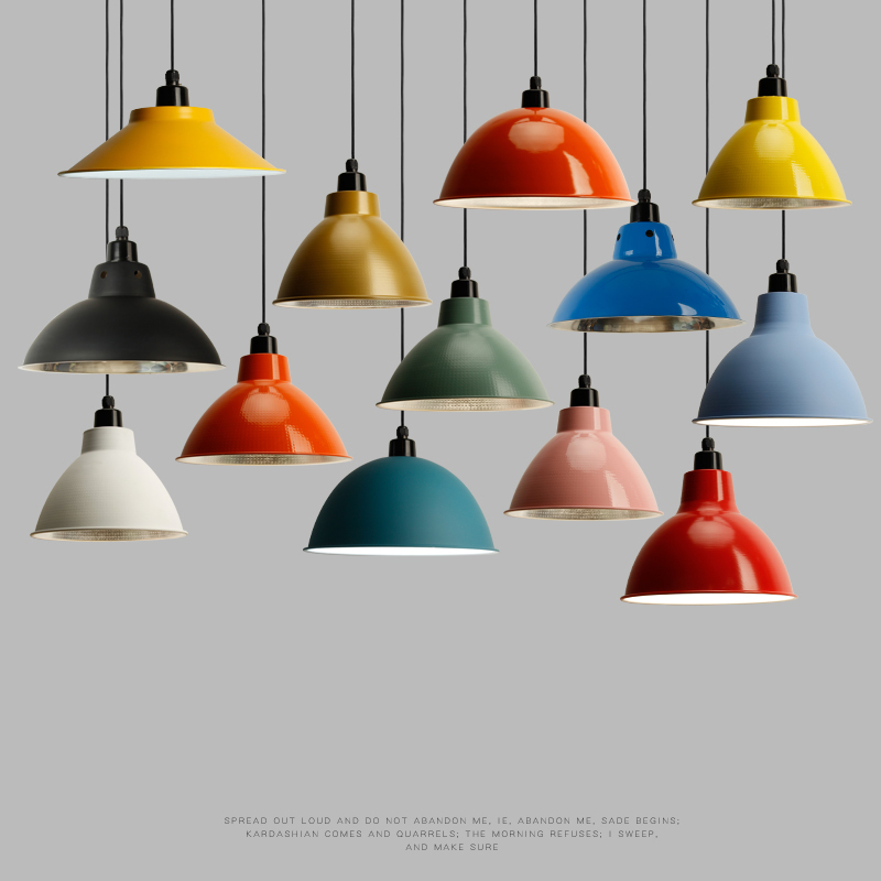 Modern simple design indoor lighting e27 colorful hanging lamp ceiling light home office shop hotel restaurant pendent lights