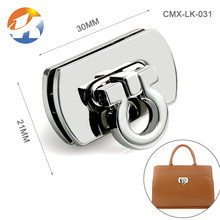 Popular Handbag Hardware Nickel Metal Bag Clip Lock