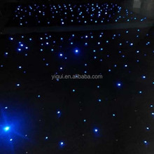Black LED Background Light Star Stage Curtain