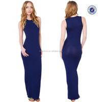 2015 sleeveless navy blue maxi dress wholesale fashion women long tight prom dresses