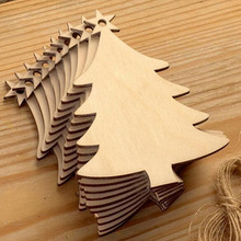 Wholesales factory pendant christmas shape christmas tree ornaments seasonal decor wood outdoor christmas decorations