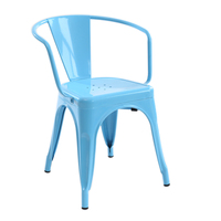 Outdoor Metal Commericial Spring Garden Dining Chair Furniture