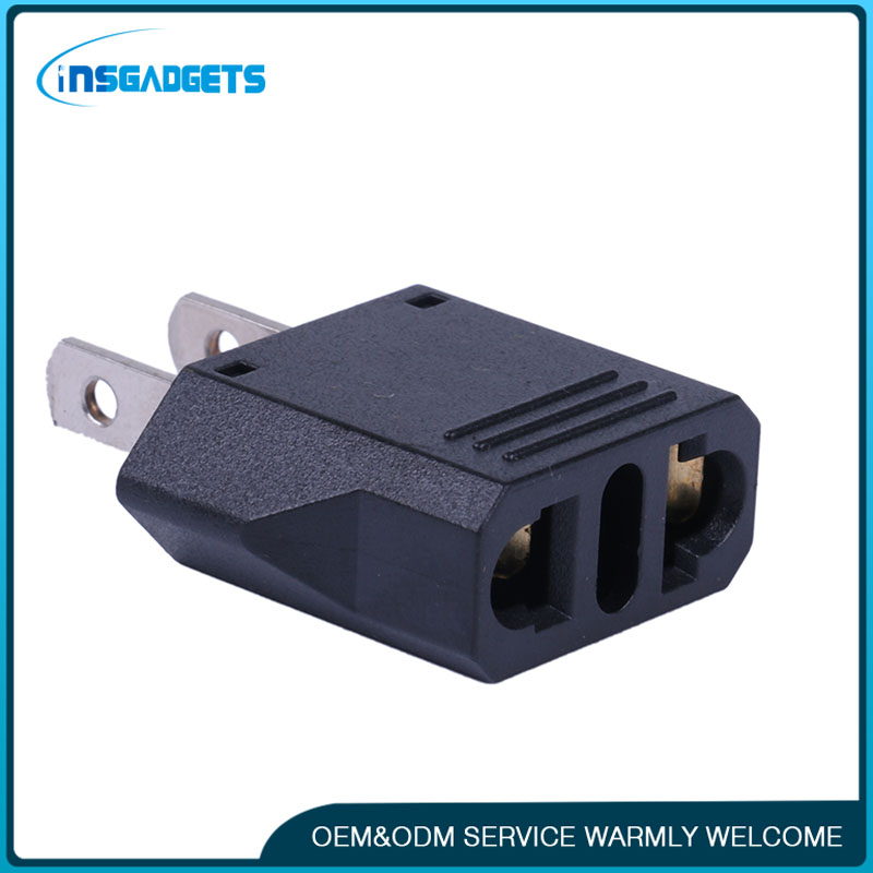 Wholesale EU Plug Adapter 2 Pin to EU 2 Round Pin Plug Socket Input AC 2.5V~250V 10A