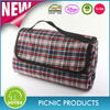 polyester fabric portable waterproof plaid picnic blanket