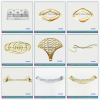 Gold Color TPU Shoes Accessories Decorative