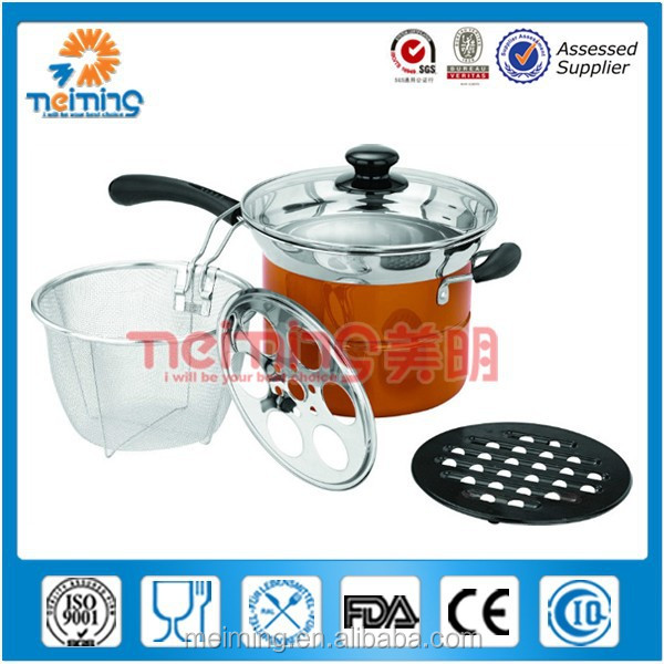 induction cookware/multi-purpose cooking pot/noddle cooking pot
