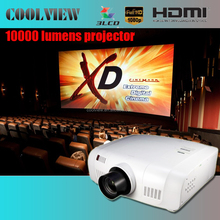 edge blending built in DVI support 10000 lumens LCD wuxga 1920x1200 outdoor video home cinema 4k projector