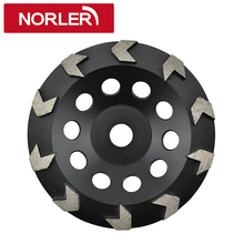 Soft, Medium, Hard Concrete Floor Grinding Arrow Segment Diamond Cup Wheel For Surface Preparation