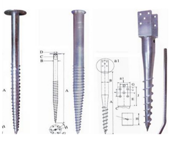 China factory supply hot galvanized ground screw pole anchor