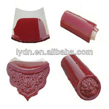Terracotta clay roof tiles red color