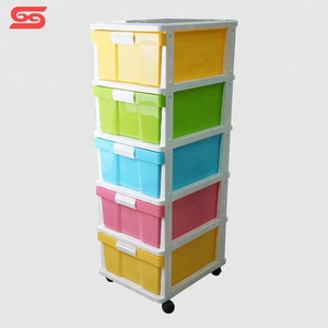 5 layers storage plastic divider kids toy cabinet for sale