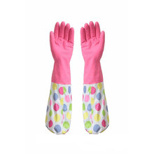 Household all purpose Retro funky floral design rubber gloves wash up