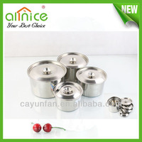 stainless steel spice jar /condiment container/ seasoning pot with lids
