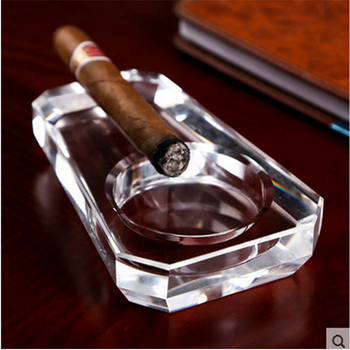 Wholesale Hotel Decoration customized k9 crystal cigar ashtray