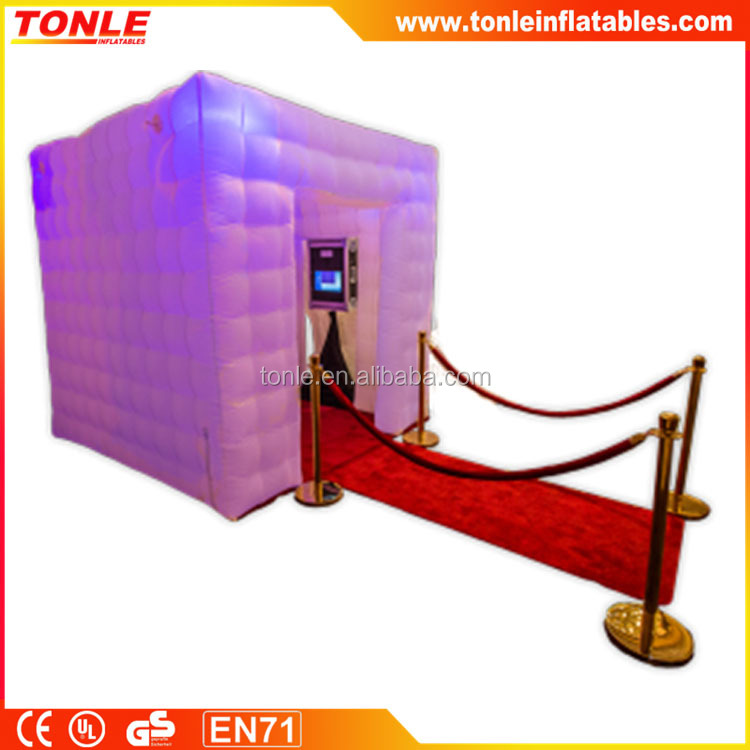 Promotional New LED Inflatable Square Photo Booth For sale