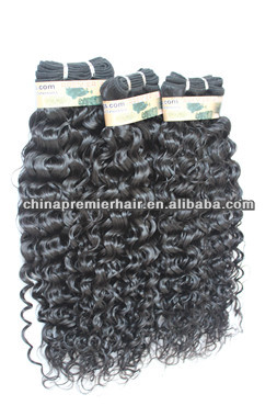 7A Malaysian virgin human hair 1B# curly Micro Braid Weft Machine Made Weft