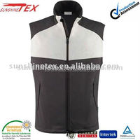 2015 Newest casual and cheap soft shell vest for men