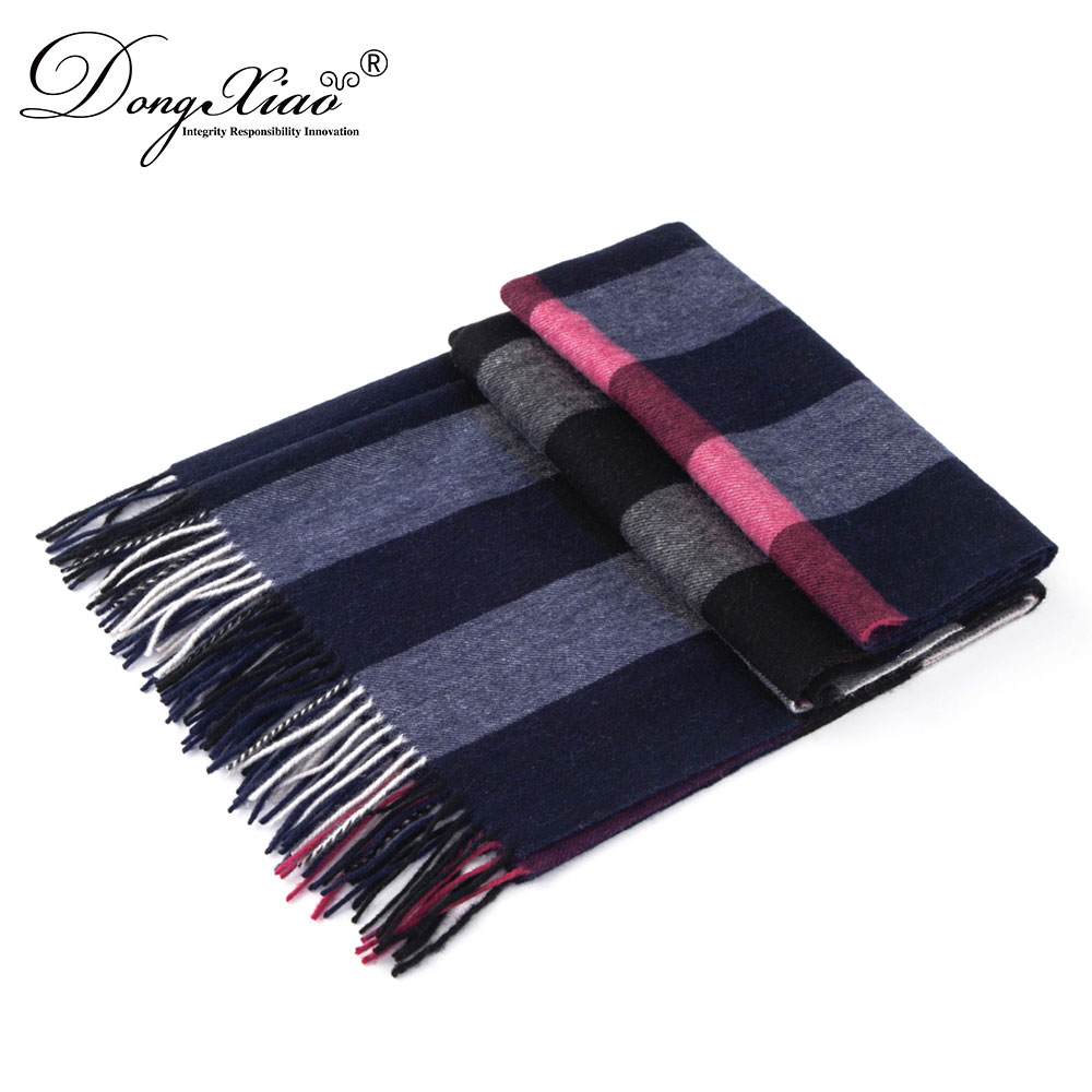 185*70Cm Autumn Winter Scarves Shawls Pashmina Mens Knit Wool Scarf