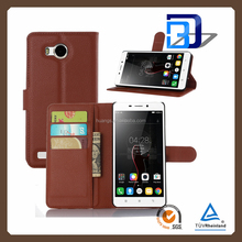 best selling products lychee phone cover leather flip case for Lenovo A5860 factory price