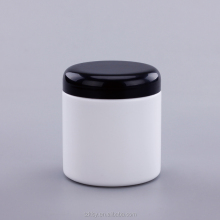 250g 250ml PP empty clear plastic bottle cosmetic cream jar cream container with black lid