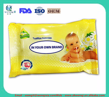 mini pack organic refreshing private label baby wipe