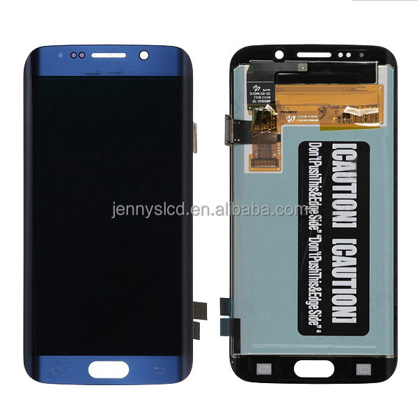 OEM New lcd for Samsung S6 edge lcd digitizer without frame blue
