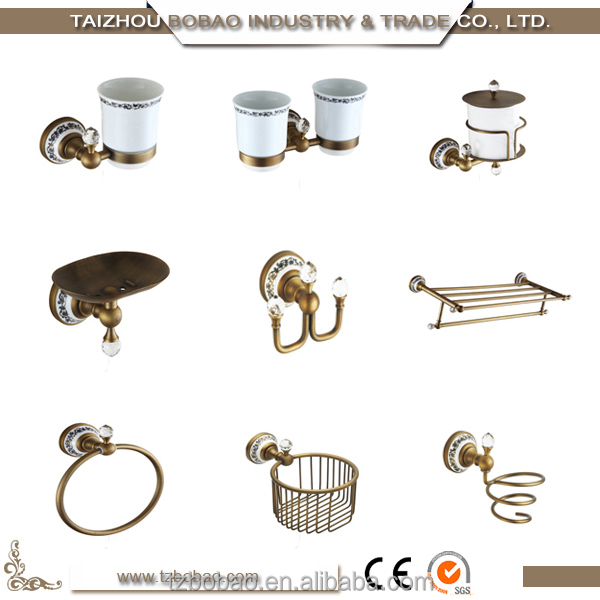 Fashion Classic Sanitary Ware Bronze Bathroom Accessories Set For Gold Color And Rose Gold Color