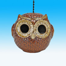 Handmade Unique Decorative Garden Hanging Owl Ceramic Bird House For Sale