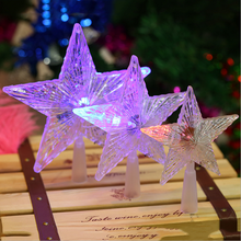 Explosive PS plastic LED light tree Christmas decorations
