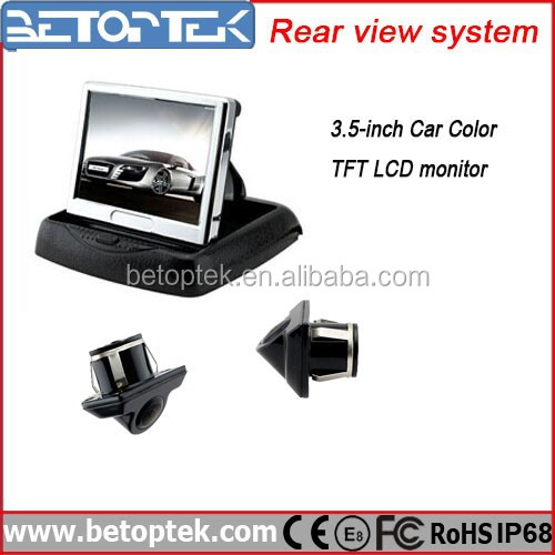 3.5 inch LCD Monitor with Rear Camera Car Radar Visible Parking System