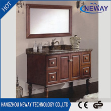 Floor standing solid wood bathroom space saver cabinet