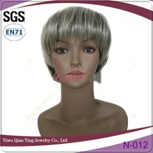 Short Lady's snythetic hair wigs bob wig Grey hair