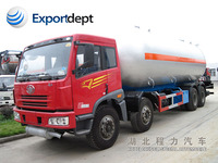 FAW lpg tanker truck trailers,8x4 lpg with chinese manufacturers