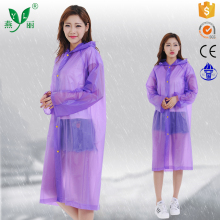 long purple pvc raincoat rain with sleeves ladies pvc raincoat with hood