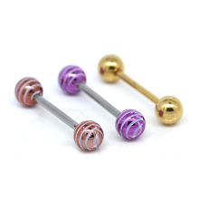 14 gauge tongue piercing jewelry set stainless steel
